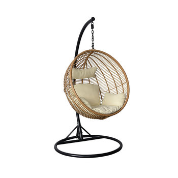 Light Brown Pod rattan wicker hanging lounge chair with cushion for patio  sc 1 st  Alibaba & Light Brown Pod Rattan Wicker Hanging Lounge Chair With Cushion For ...