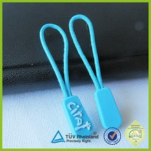 Customized fashion string rubber pvc zipper puller