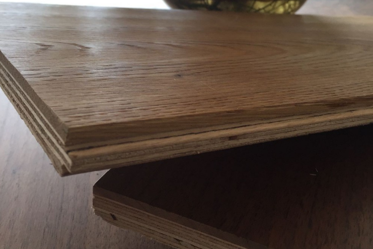 Antieke gerookte franse eiken hardhouten vloer gemakkelijk