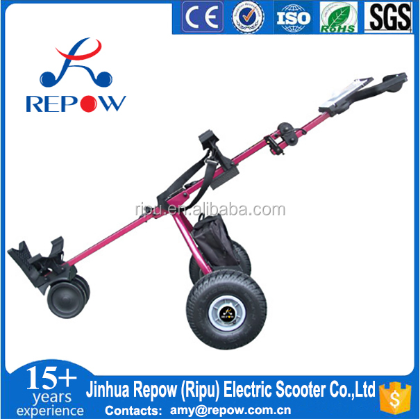 CE certificated Golf Trolley 105G foldable golf trolley 12V 150W lithium battery electric golf trolley