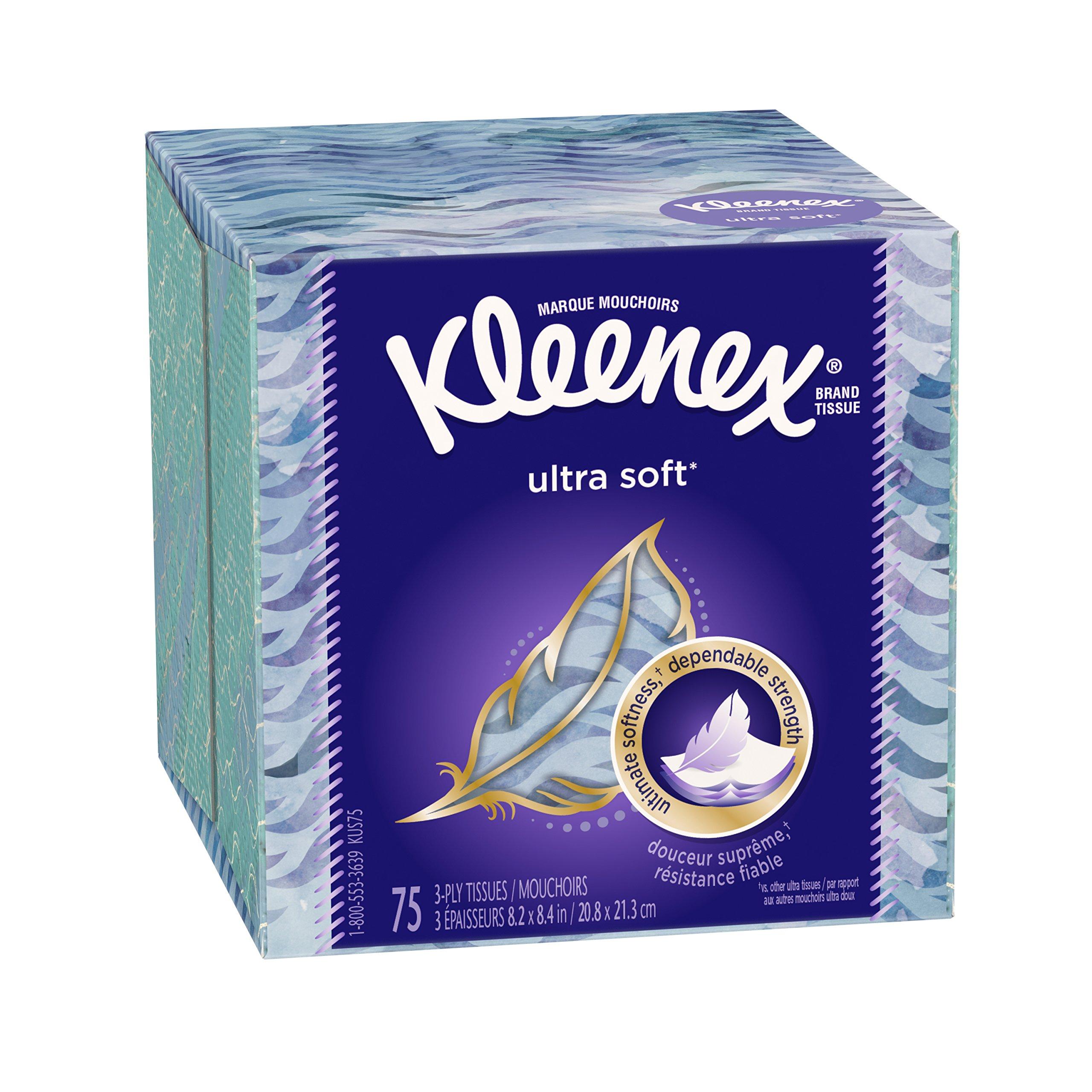 Kleenex, Facial Tissue, Upright Ultra Soft, 75 ct