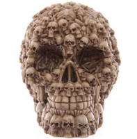 Custom floral resin human head skull manufacturer