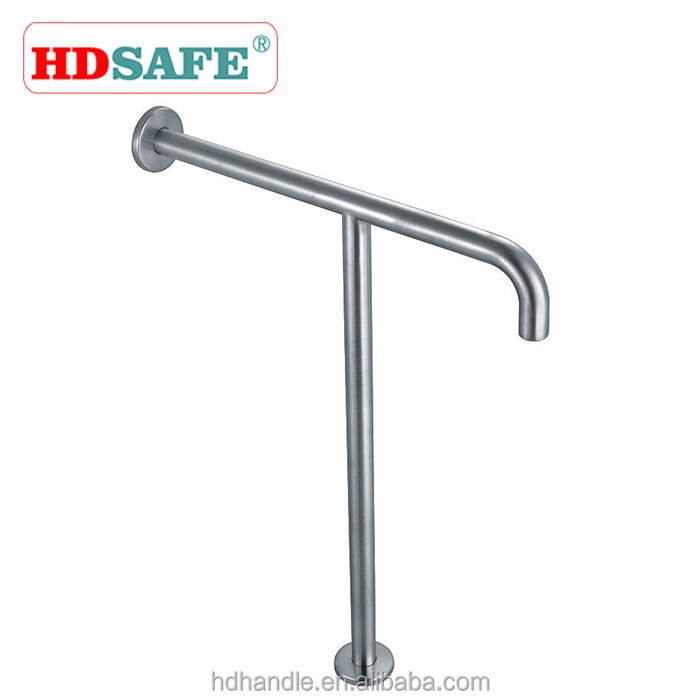 Washroom safety guard stainless steel T shape grab bar shower hand rail