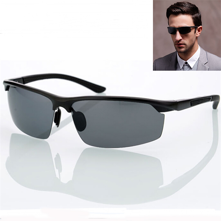 efd30362d8 Get Quotations · Aluminum Magnesium Sunglasses Men Coating Mirror Sports  Driving Polarized Sunglasses oculos Male Eyewear Accessories