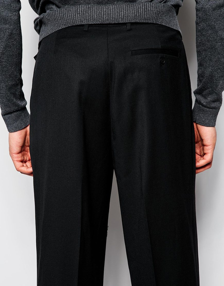 Wide Leg Smart Pants With Side Pockets And One Back Pockets For