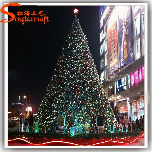 Chinese Christmas Tree Decoration Artificial Giant Led Lighted ...