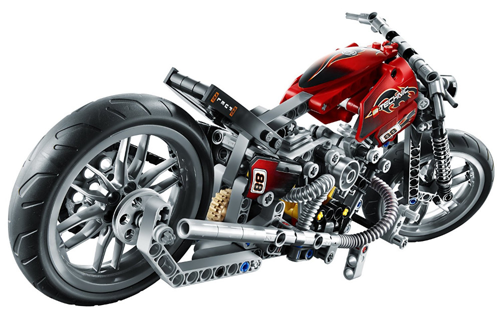 UKLego Technic City Series Motorbike Harley Vehicle Building Blocks Bricks Model Kids Toy.
