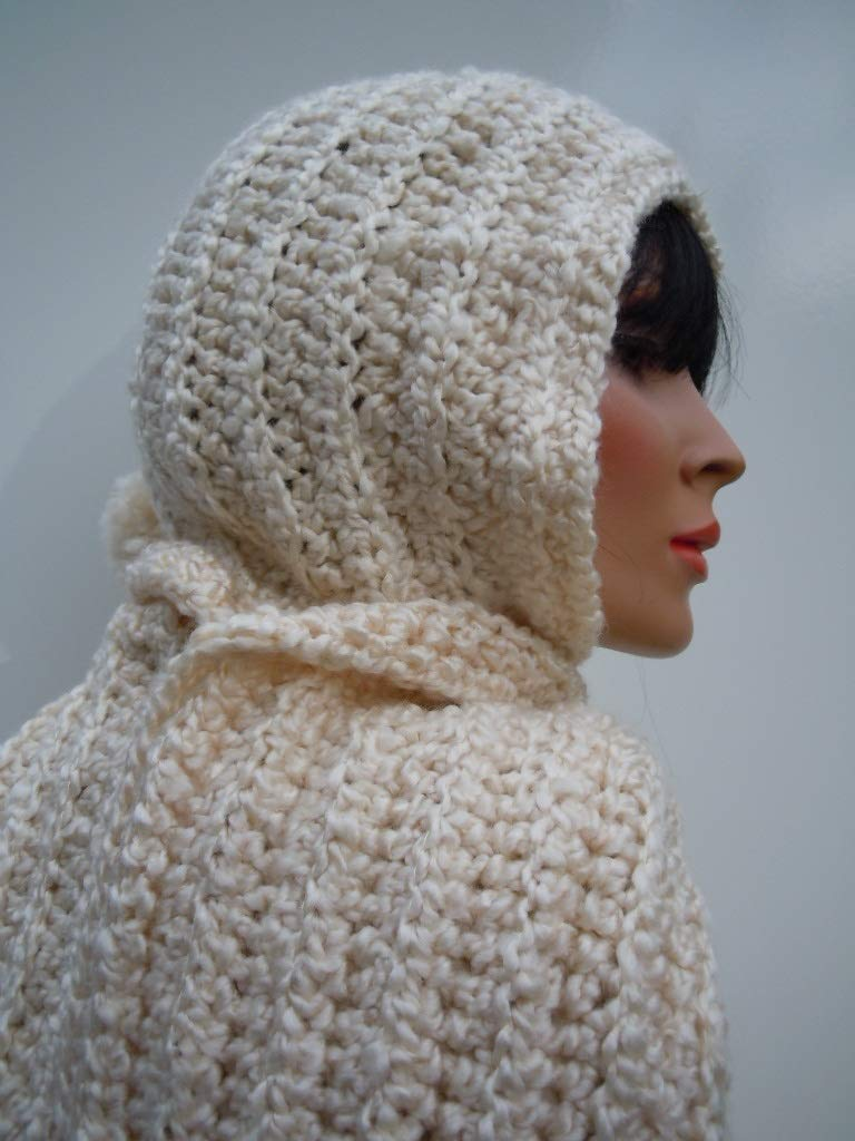 f9aefe7b49b Get Quotations · Pearl White Hooded Scarf