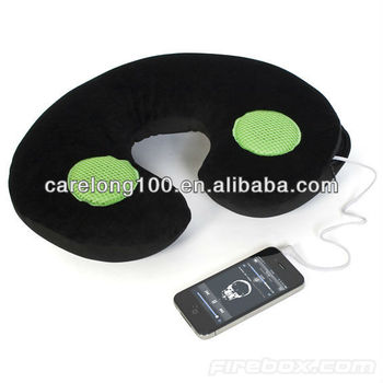 Relaxing Neck pillow with speaker for ipod ipad mp3 player
