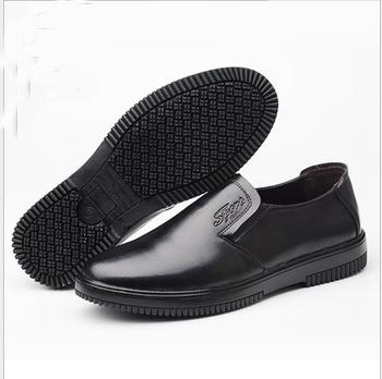 Tsb22 Pria Pelayan Restoran Dapur Kulit Sepatu Non Skid Anti Licin Tahan Minyak