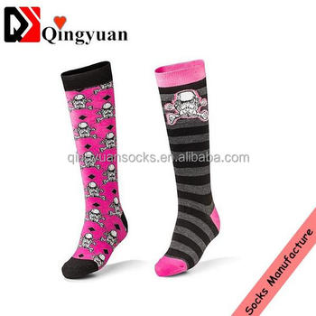 Hot Selling High Quality Custom Design Women Knee High Socks