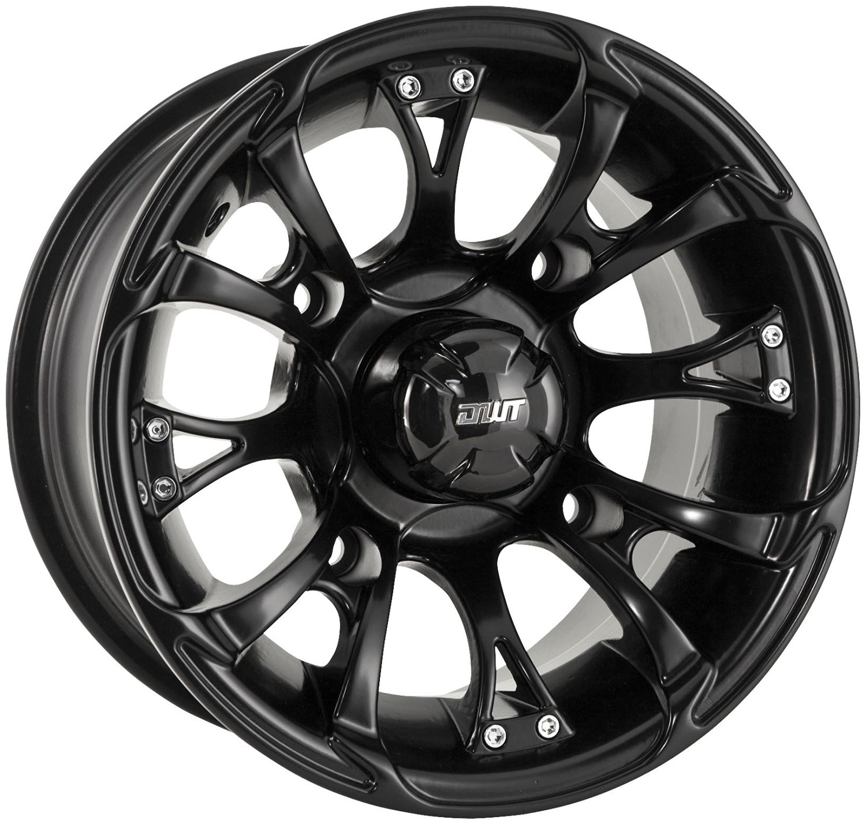Douglas Wheel Tire 989-15B Nitro Wheel - 12x7 - 2+5 Offset - 4/110 - Black , Bolt Pattern: 4/110, Wheel Rim Size: 12x7, Rim Offset: 2+5, Color: Black, Position: Front/Rear