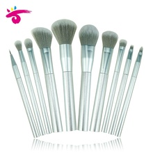 Custom 블 숙 녀 <span class=keywords><strong>화장품</strong></span> 10 pieces 은 plastic handle 메이 컵 brush set