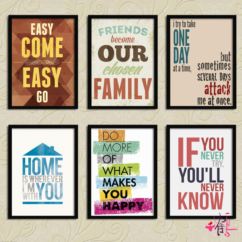 English words, posters, home decoration, decorative painting, living room, modern minimalist dining room wall painting