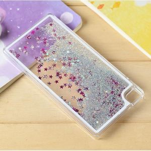 Clear Cellphone Back Cover Case Dynamic Liquid Glitter Sand Quicksand Star PC For HW P8 Lite mini Phone Cases