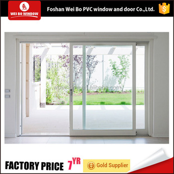 Factory Direct Suply French Style Pvc/upvc Sliding Door For Balcony