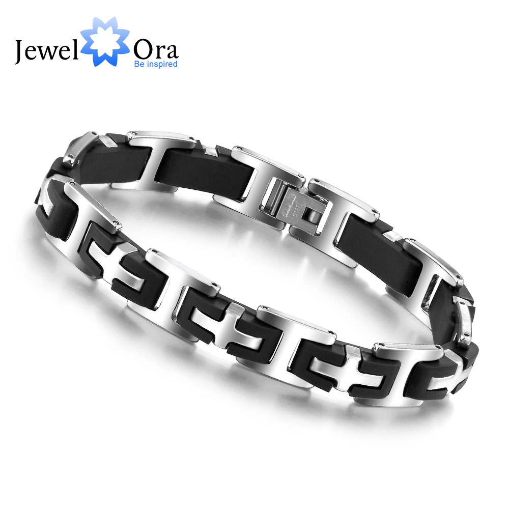 Hot Selling Stainless Steel Bracelets & Bangles Fashion Jewelry 215mm 304 Stainless ...