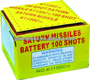 Saturn Missile Battery 100 Shots Fireworks