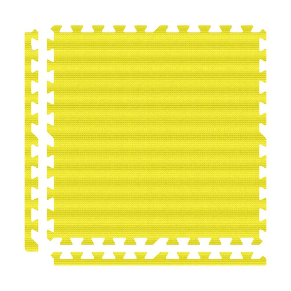Alessco EVA Foam Rubber Interlocking Premium Soft Floors 6' x 10' Set Yellow