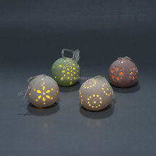 Hollow out ceramic LED light ornaments christmas tree ball