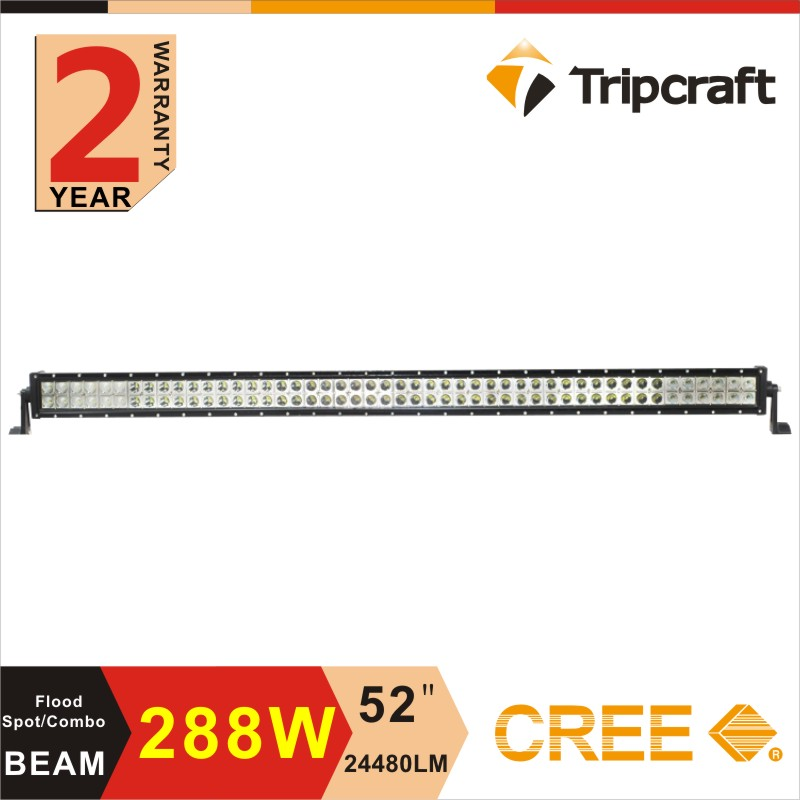 "288W 50"" straight led off road light bar ,9-32V DC LED driving light with CE RoHS IP67"