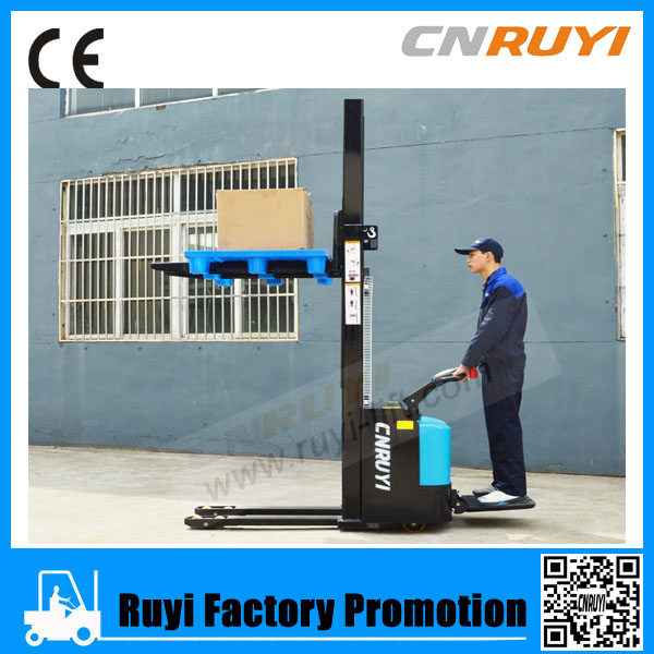China famous brand forklift type shop electric pallet stacker load 1.5T lift 3m