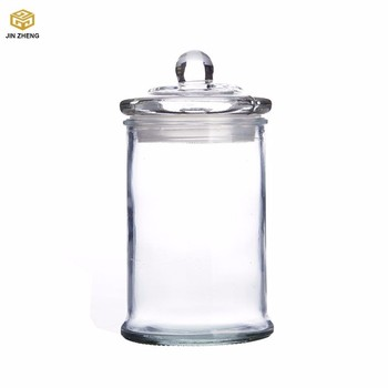 Gl Candle Holder Storage Jar With