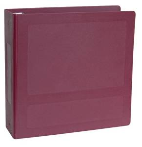 """Silver Base Antimicrobial Side Open 5 Ring Molded Binder Size: 1.5"""""""