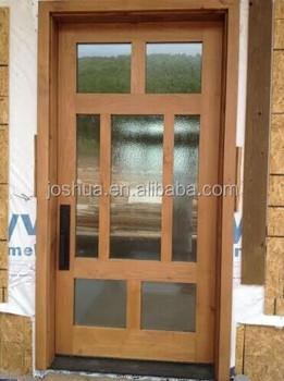 SOLID WOOD CUSTOM 42u0026quot; X 96u0026quot; CONTEMPORY FRONT GLASS ENTRY DOOR