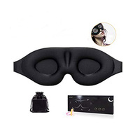 Unisex 3D Contoured cup sleeping mask blindfold with ear Sleep eye mask