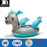 kids pool beach party toy Giant inflatable dragon blow up pool toy animal float swimming ride on aquatic toy