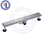 2018 CE certification bathroom and toilet floor application shower stainless steel linear drain