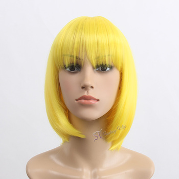 Beautiful Yellow Anime Wigs Short Bob Wigs