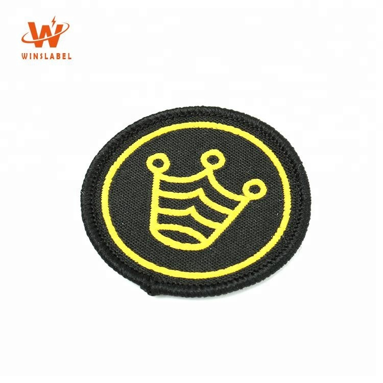 No Minimum Private Brand Felt Paper Backing Woven Sewing on Custom Logo Patches Fabric Cloth Badges
