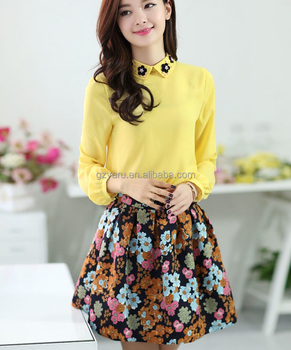 98409d6761d Ladies Tops New Look Floral Crepe Peplum Skirt turkey Ladies Skirts ...