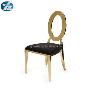 Price Beatiful Hollow Round Back Flannel Chair Wedding Stainless Steel Dining Chair