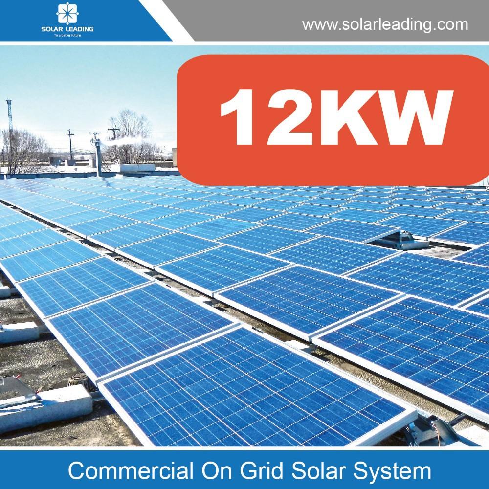Renewable 12kw Solar Panel System Power With Solar Grid Tie Inverter ...