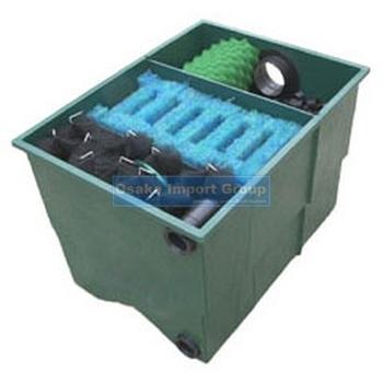 3 chamber multi segments compact frp koi pond filter for Multi chamber filter systems for ponds