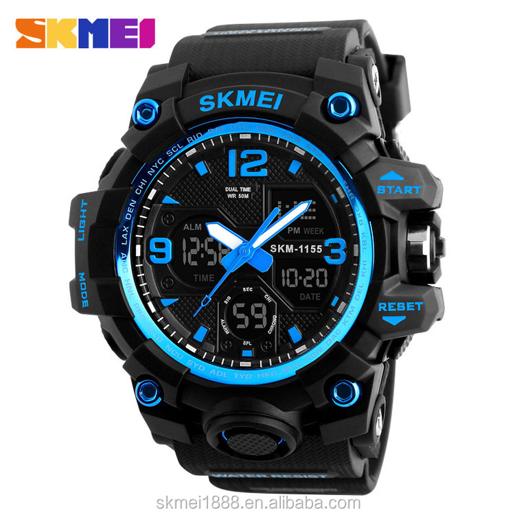 Hot products skmei 1155B fashion digital sport waterproof watches for men фото