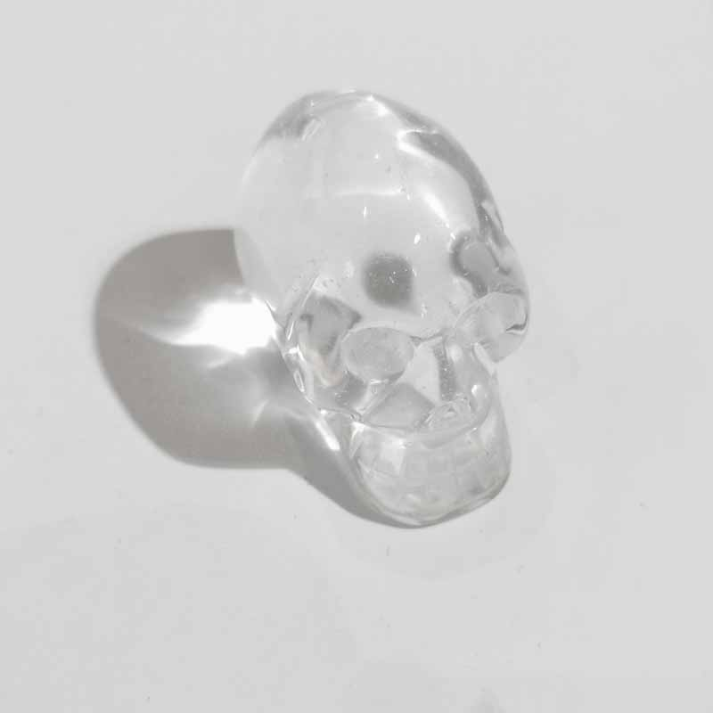 wholesale natural mini white transparent quartz crystal carving skulls family decoration feng shui
