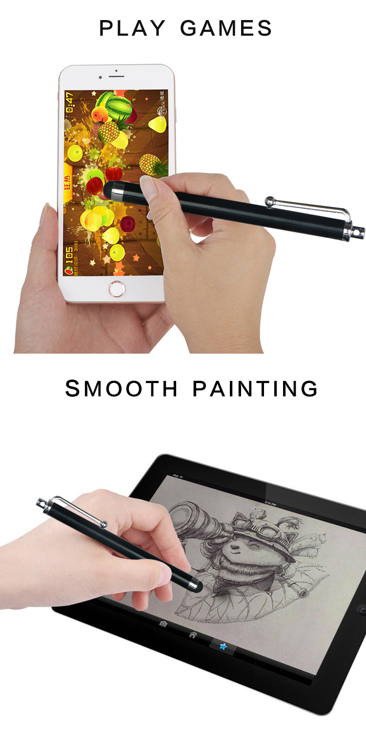 Universal Capacitive Touch Screen Stylus Pen for Smartphones and Tablets