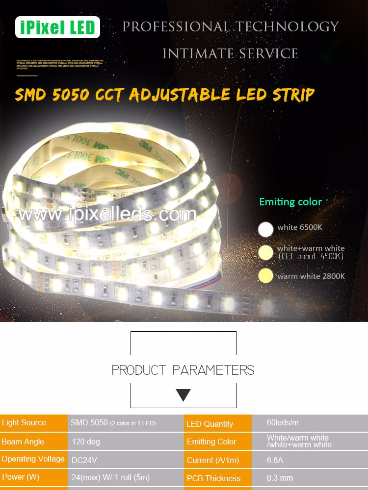 White Warm White Color Temperature Adjustable Smd 5050 Led