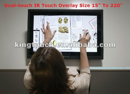 57 inch IR Dual Touch Overlay frame size: 15 inch to 220 inch