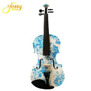 Solid Wood Blue Color Violin Oud Musical Instrument TL-1201
