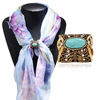Women's Tricyclic Scarf Rings Shawl Buckle Clip Holder Brooch Pin Jewelry