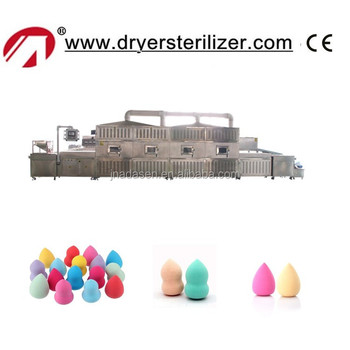 China supplier tunnel type microwave drying machine for make up sponge