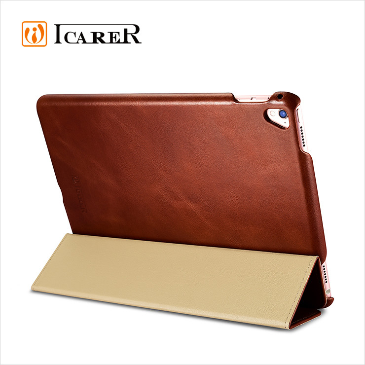 Genuine Leather Flip Case Cover for <strong>iPad</strong> Pro 9.7 Inch