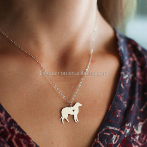 Online shop china friend gift accessories fashion jewelry silver dog necklace animal necklace pendant