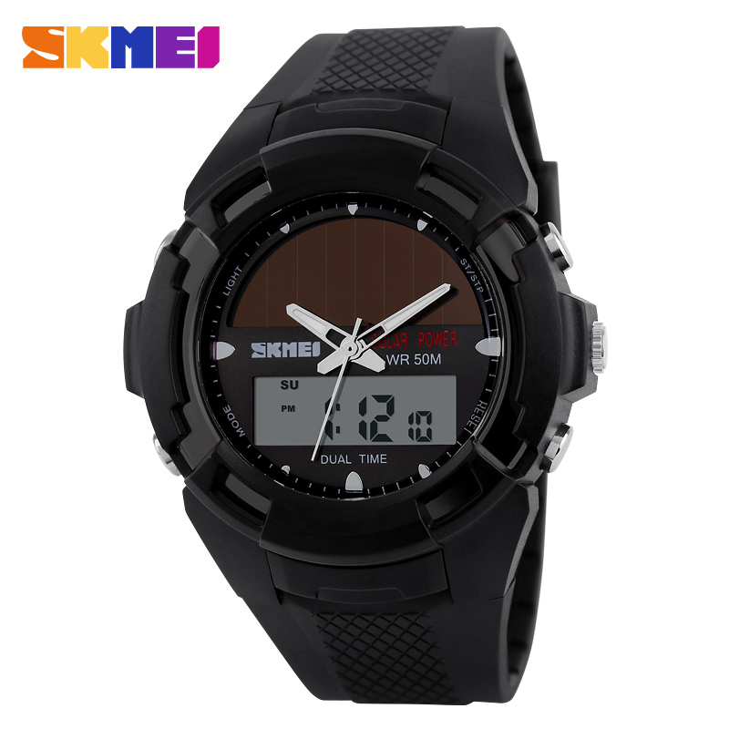 high quality PU band 5atm waterproof digital wholesale own logo watch set