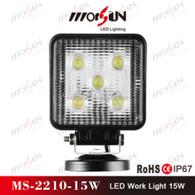 Hot sale 15W square led work light flood light, racing car led headlight for offroad buggy,rav4,4wd,jeep
